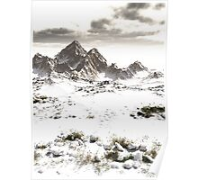 Snowy Winter Mountain Landscape Poster