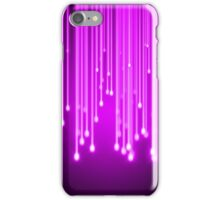 Pink stars falling iPhone Case/Skin