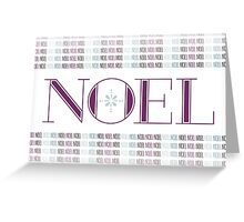 Noel Card (Contemporary Colors) Greeting Card