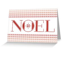Noel Card (Red) Greeting Card