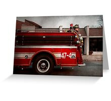 Fireman - Metuchen, NJ - Always on call Greeting Card