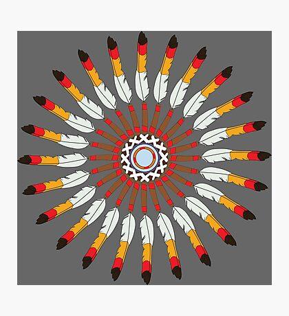 Indian Headdress inspired pattern Photographic Print