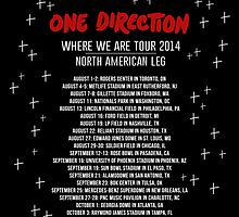 One Direction North American Tour Dates 2014 by judymoy