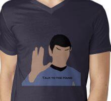 Talk to the Hand Mens V-Neck T-Shirt