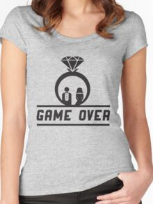 Game over Wedding Ring Women's Fitted Scoop T-Shirt