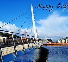 Swansea Birthday Card by Paula J James