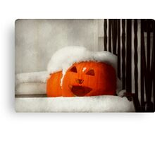 Halloween - Winter - I'm cold Canvas Print