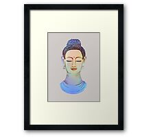 Blue buddha close up Framed Print