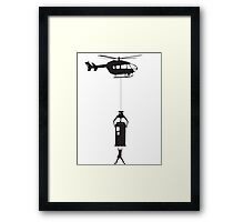 Ever Heard of Knocking??!! Framed Print