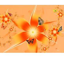 Garden of Butterflies Photographic Print
