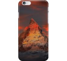 Iconic Alpine Mountain Matterhorn at Sunset iPhone Case/Skin