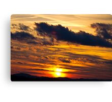 Sunset At Virginville, Pennsylvania Canvas Print