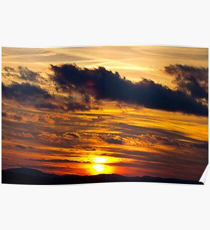 Sunset At Virginville, Pennsylvania Poster