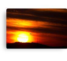 Virginville Sunset December 7, 2013 Canvas Print
