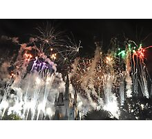 Bright as Day Fireworks Photographic Print