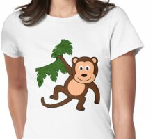 My Day at the Zoo - Monkey Womens Fitted T-Shirt