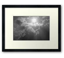 Wild Clouds and Sun Framed Print