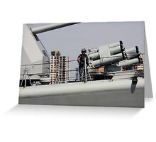 On duty, 113 Qingdao Greeting Card