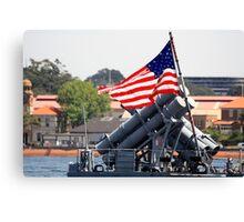 Old Glory - USS Chosin Canvas Print