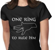 One ring to rule them all Womens Fitted T-Shirt
