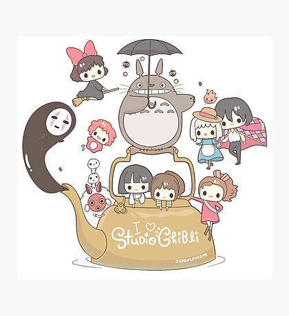 Studio Ghibli Friends Photographic Print