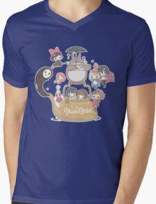 Studio Ghibli Friends Mens V-Neck T-Shirt