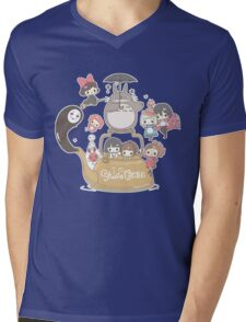 Studio Ghibli Friends Mens V-Neck T-Shirt