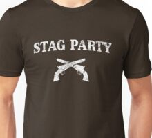 Stag Party Crossed Guns Unisex T-Shirt