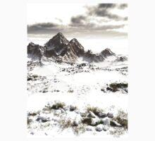 Snowy Winter Mountain Landscape One Piece - Long Sleeve