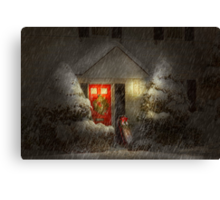 Winter - Westfield, NJ - T'was the night before Christmas  Canvas Print