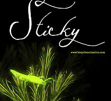 """""""Sticky"""" short film - the Green Nymph of Hope poster by Jilli Rose"""