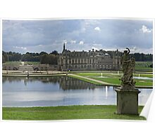 A Rear View Of the Château de Chantilly © Poster