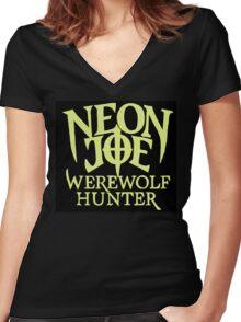 Neon Joe Werewolf Hunter Women's Fitted V-Neck T-Shirt