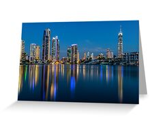Surfers Paradise Skyline at Sunset Greeting Card