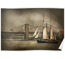 Boat - Sailing - Govenors Island, NY - Clipper City Poster