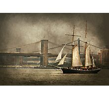 Boat - Sailing - Govenors Island, NY - Clipper City Photographic Print