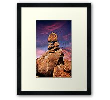 Stacked Rocks at Garden Of The Gods Framed Print