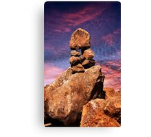 Stacked Rocks at Garden Of The Gods Canvas Print