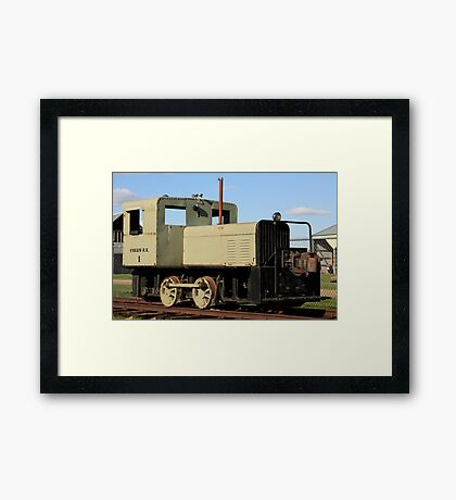Old Locomotive Framed Print