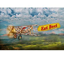 Flying Pigs - Plane - Eat Beef Photographic Print