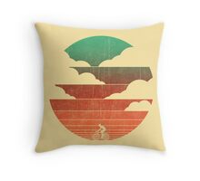 Go west - cycling Throw Pillow