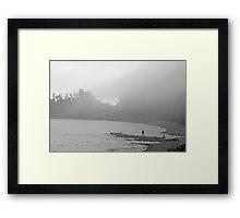 Fog Moving In Framed Print