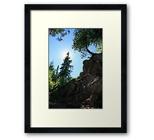 Looking Up The Rock Wall Framed Print