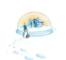 Going home snowman by Budi Kwan