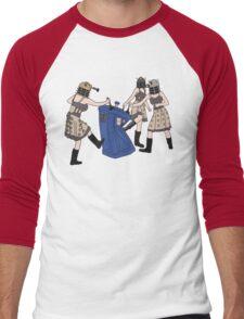 Dalek Babes Destroy Tardis Men's Baseball ¾ T-Shirt