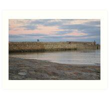 Father and Son on St Andrews Pier Art Print