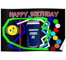 Birthday Beer Poster