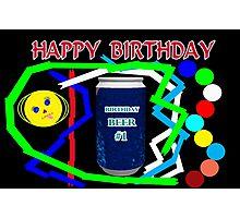 Birthday Beer Photographic Print