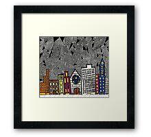 Big City Snow Fall Framed Print