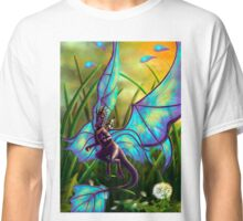 We Ride at Dawn - Mouse Warrior Riding Fairy Dragon Classic T-Shirt